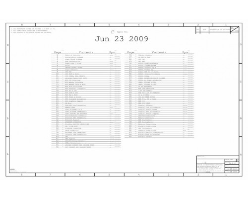 APPLE IMAC 27 A1312 LATE 2009 820-2507-А SCHEMATIC [APPLE