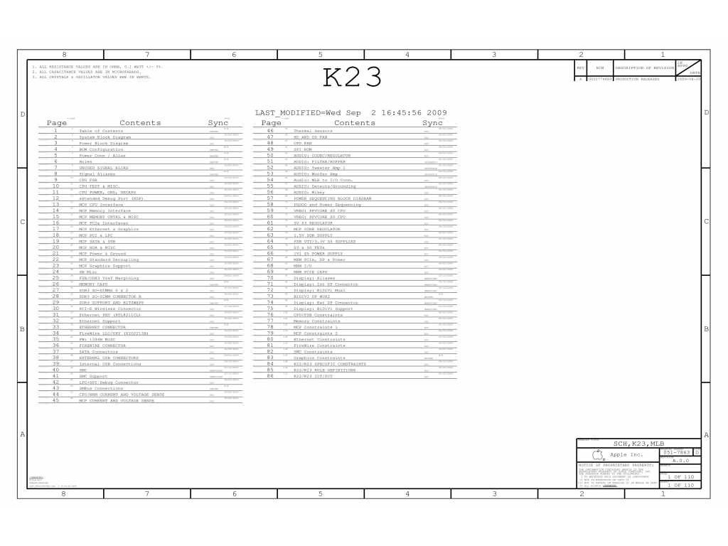 Apple K23 Schematic Apple K23 Schematic Appleschematic
