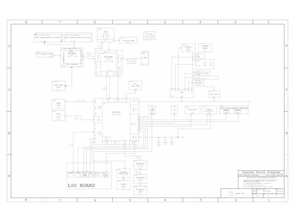 Apple Macbook Pro A Schematic 820 Apple