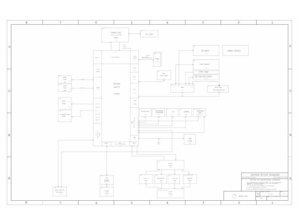Apple Macbook Pro A Schematic 820 Schem