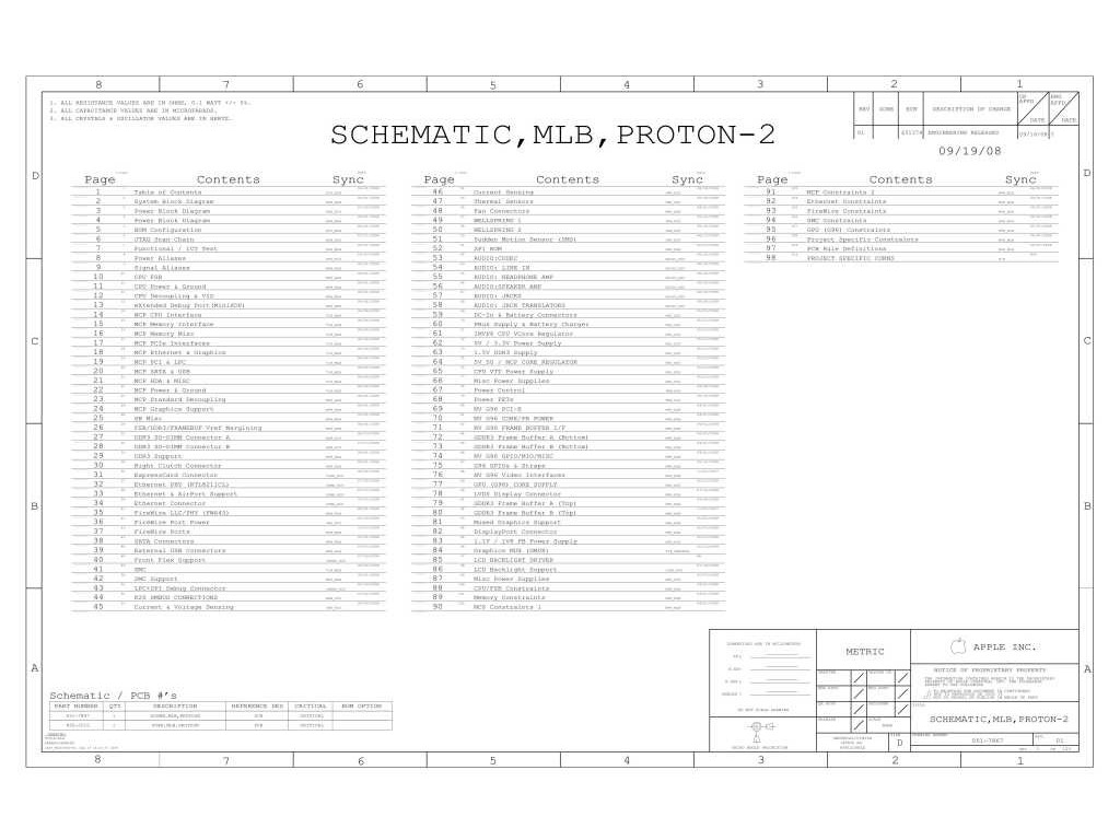 Apple K20 Schematic 820 Schematic Mlb Proton 2
