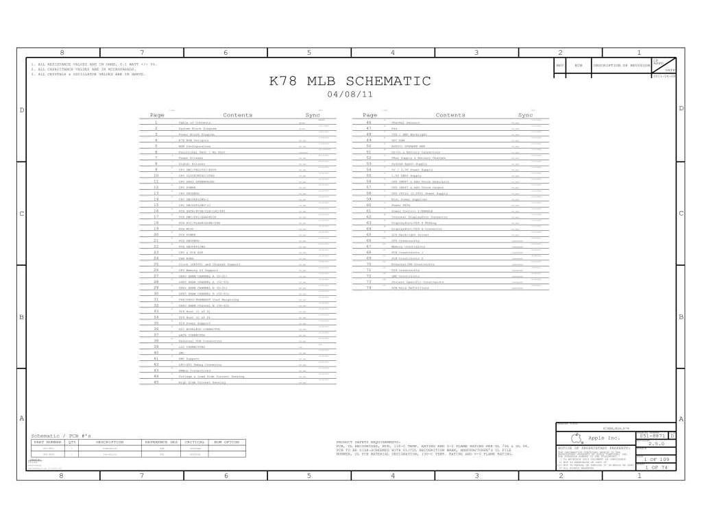 Apple Macbook Air A Schematic 820 Schem Mlb