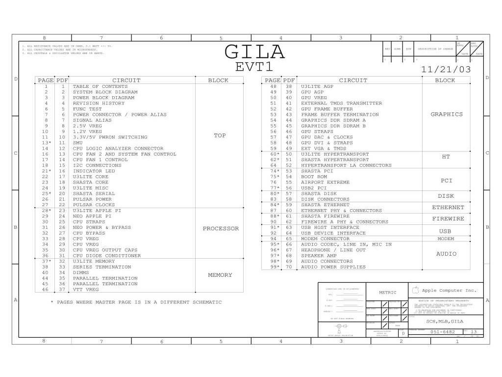 Apple Imac G5 17 20 Gila Evt1 Schematic Apple Imac G5
