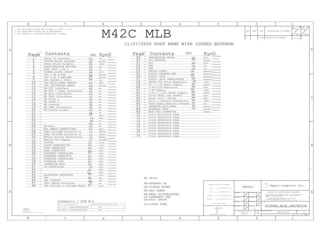 Apple M42c Schematic Apple M42c Schematic Appleschematic