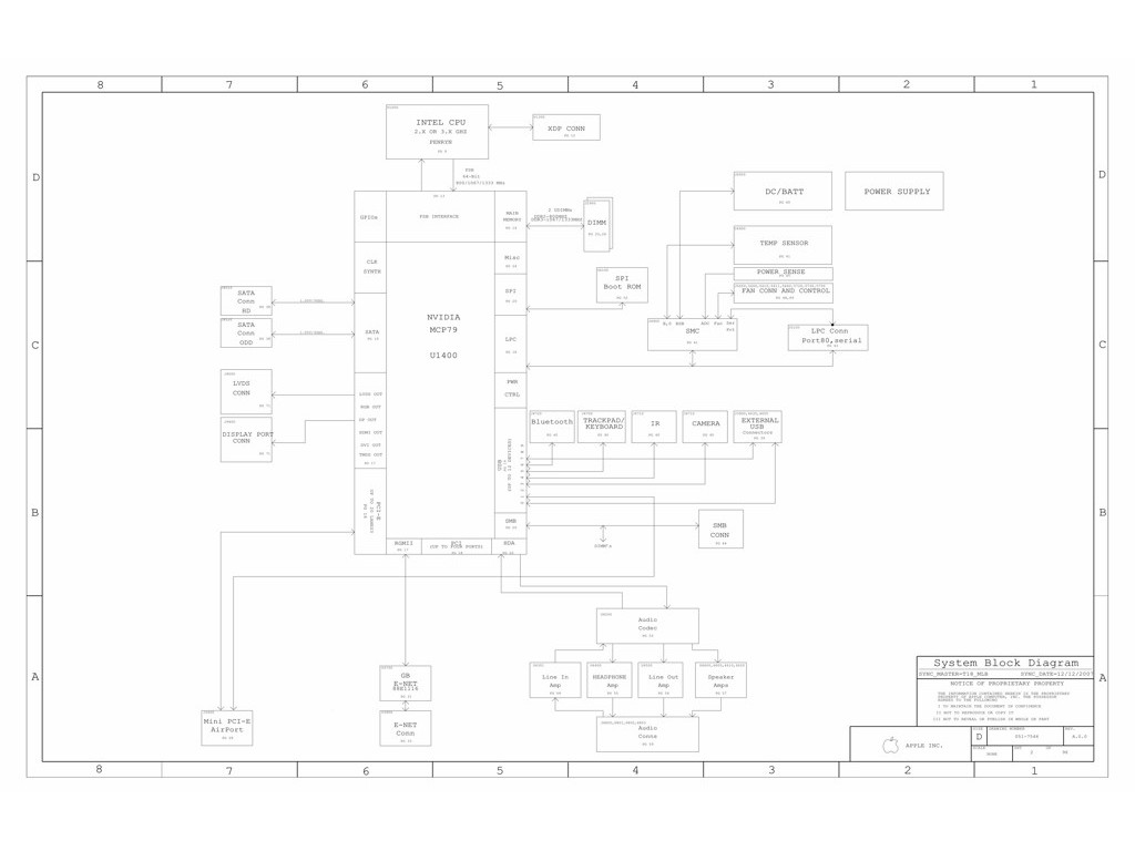 APPLE MACBOOK UNIBODY 15″ A1286 SCHEMATIC