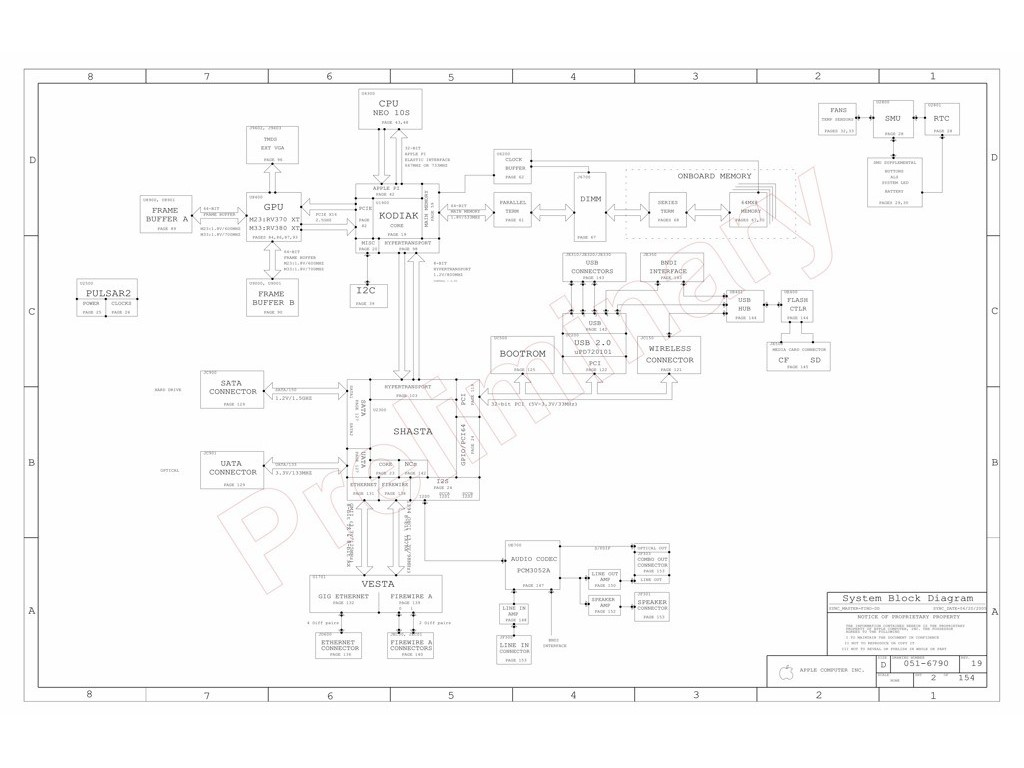 Apple Imac G5 Isight 17 Logic Board Schematic Fino M23