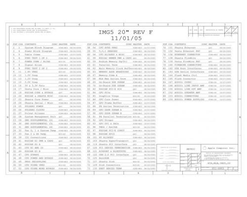 APPLE IMAC G5 20″ SCHEMATIC – IMG5 20″ REV F