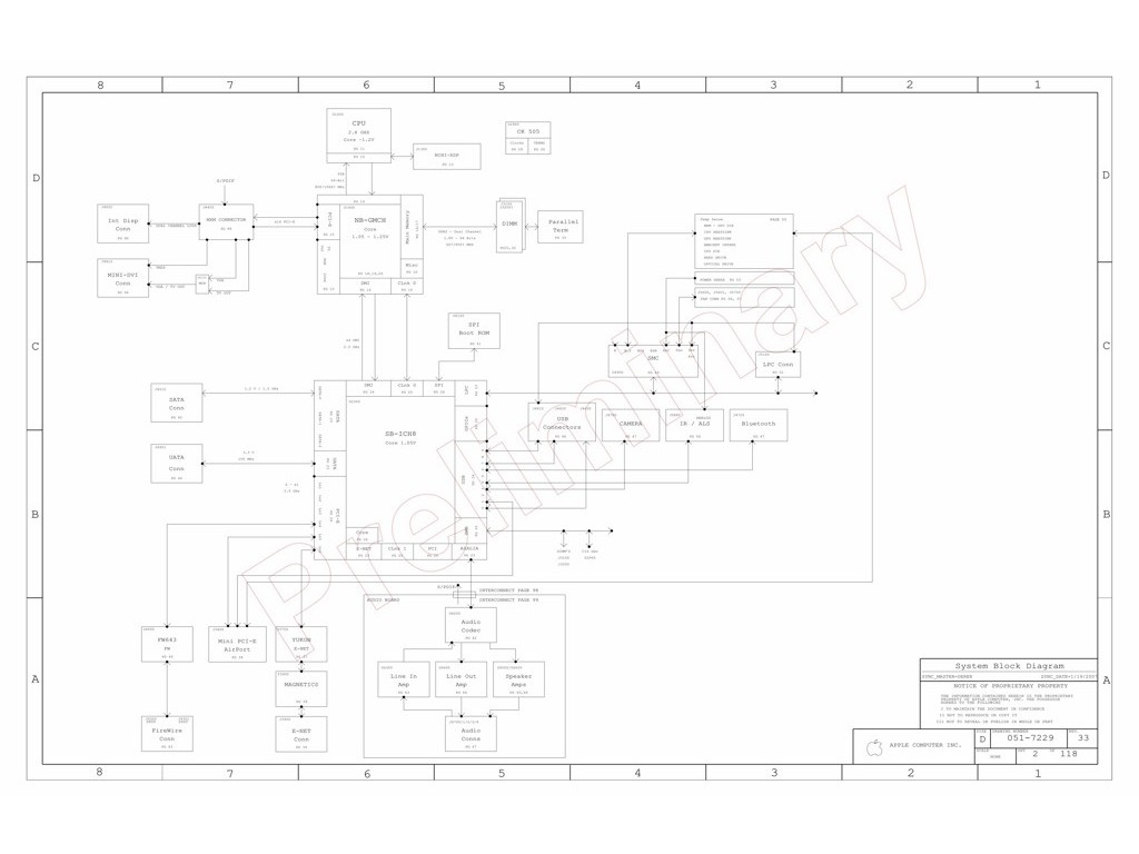 APPLE IMAC 24″ A1225 SCHEMATIC – 820-2110