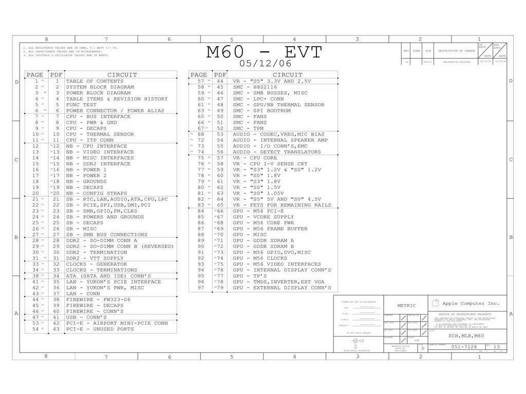 APPLE IMAC 20″ LOGIC BOARD SCHEMATIC