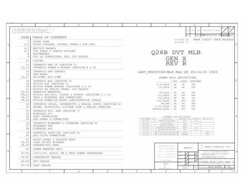 APPLE IMAC G4 17″ SCHEMATIC