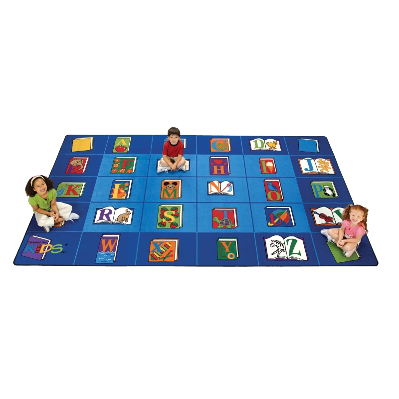 Reading by the Book Rectangle Rug, Carpets for Kids, Free