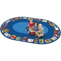 Reading by the Book Oval Rug, Carpets for Kids, FREE SHIPPING!