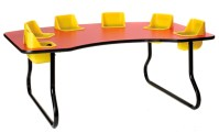 Super Sale!! 6 Seat Toddler Table, Lowest Price Guaranteed!
