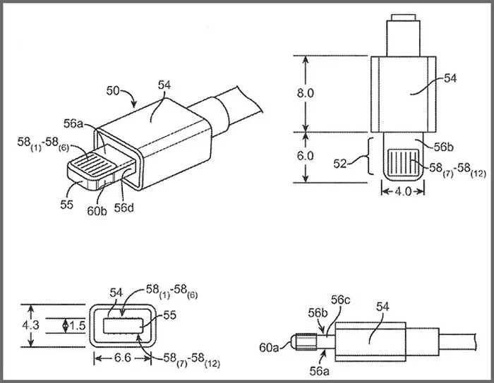 Apple patenta conectores híbridos de fibra óptica para los