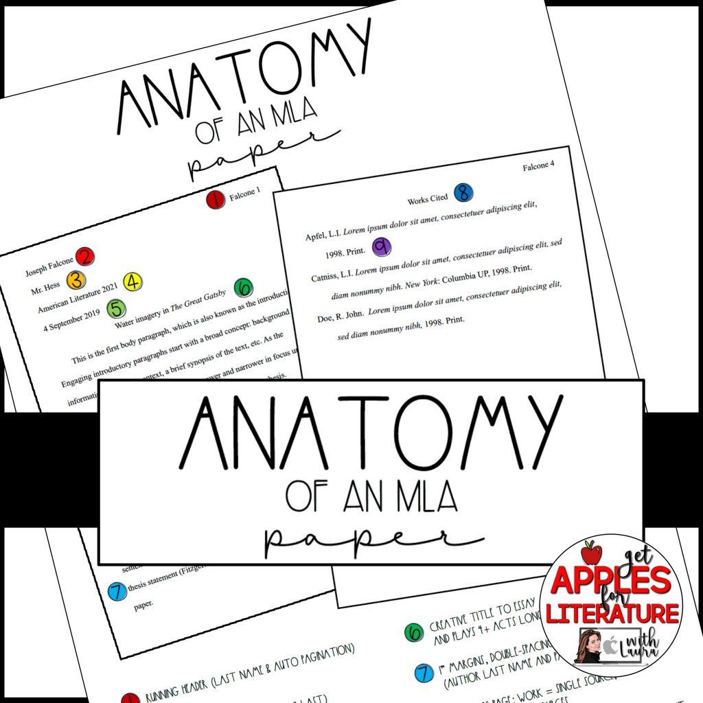 MLA Format 8th Edition Anchor Chart & Handout: teach MLA