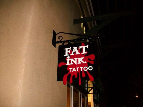 Sign Example - Fat Ink Tattoo