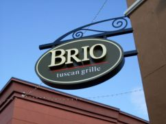 Sign Example - Brio Tuscan Grille