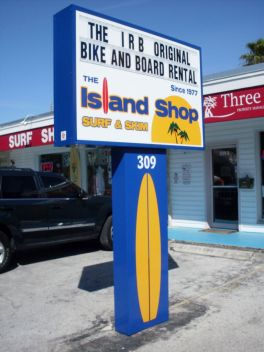 Sign Example - island shop