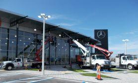 Installation at Mercedes Dealership