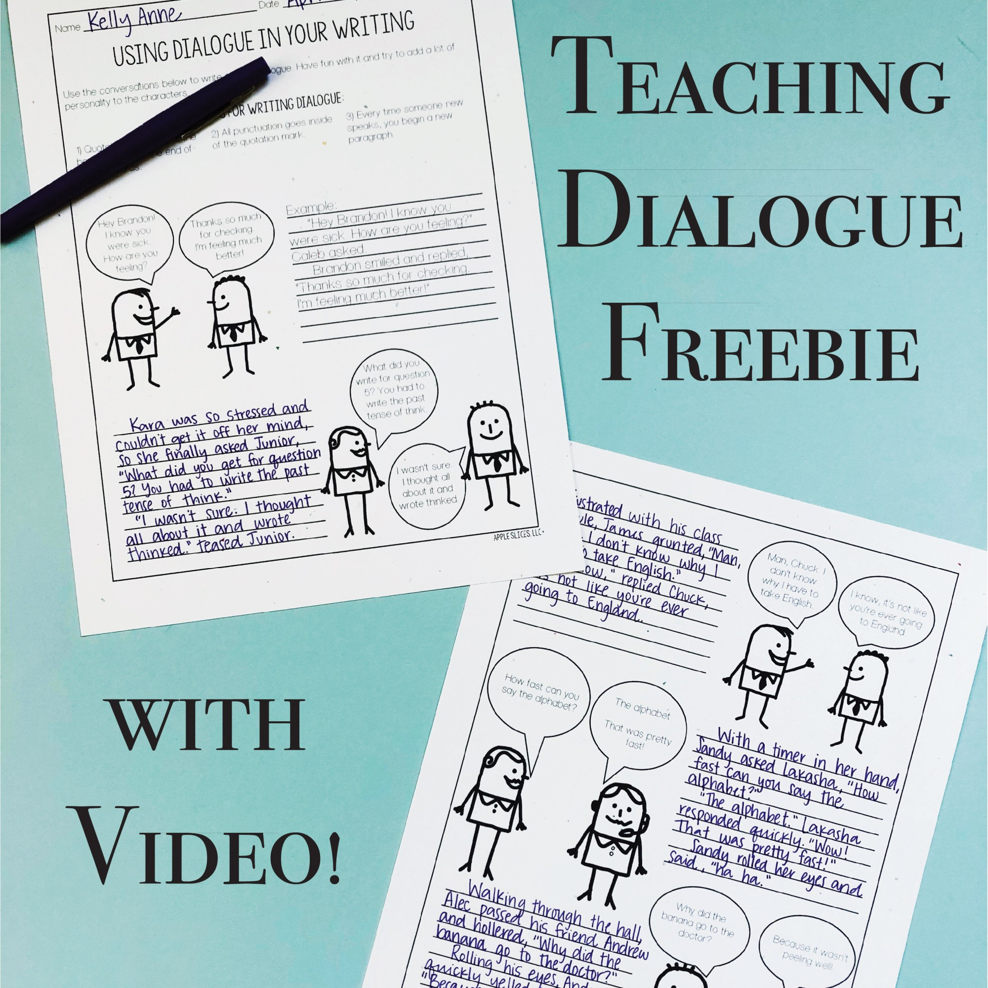 hight resolution of Free Dialogue Writing Lesson and Video Writer's Workshop   Apple Slices