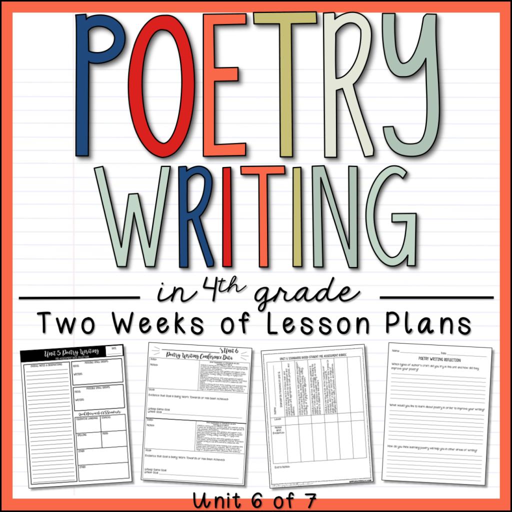Poetry Writing 4th Grade Sample