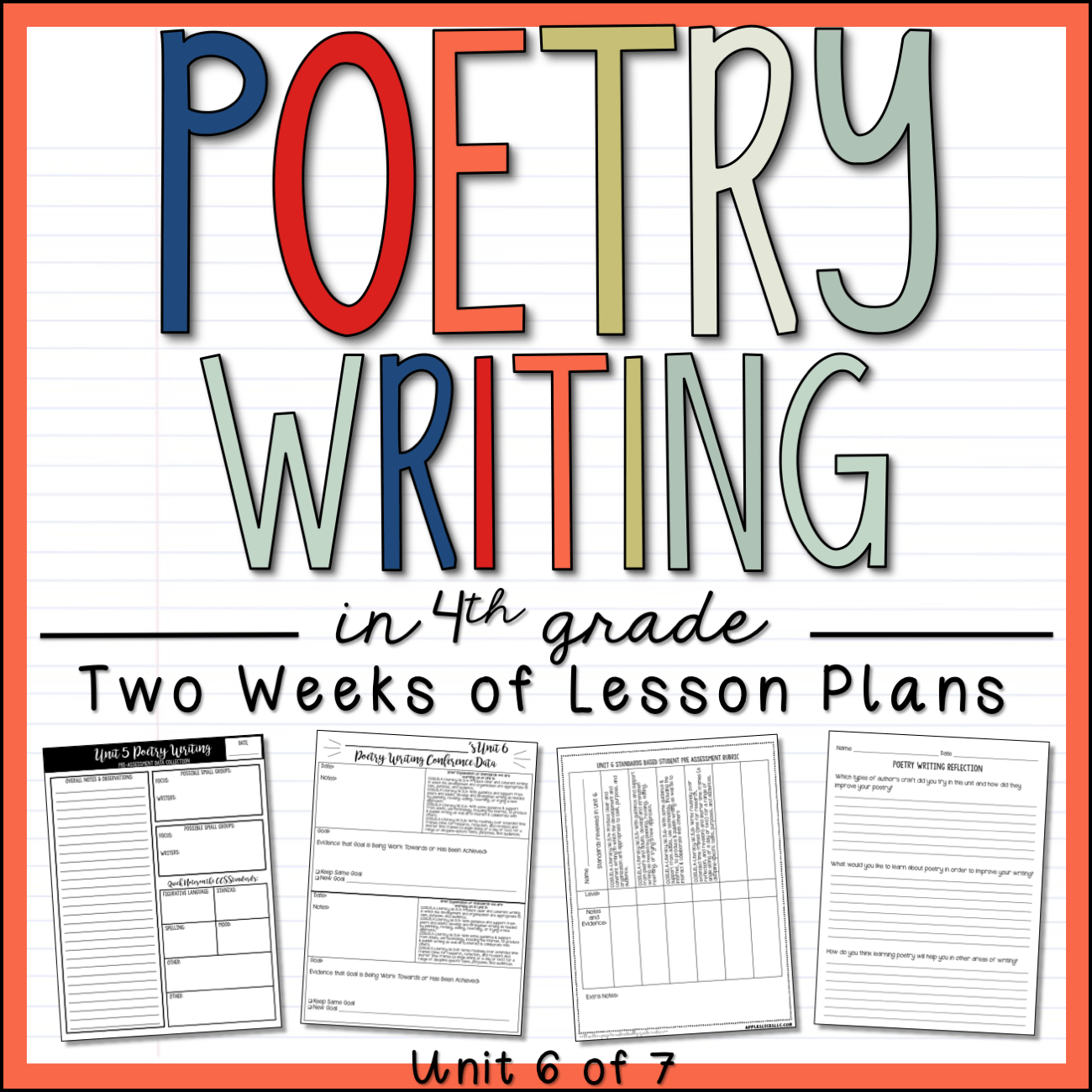 Poetry Writing 4th Grade Sample