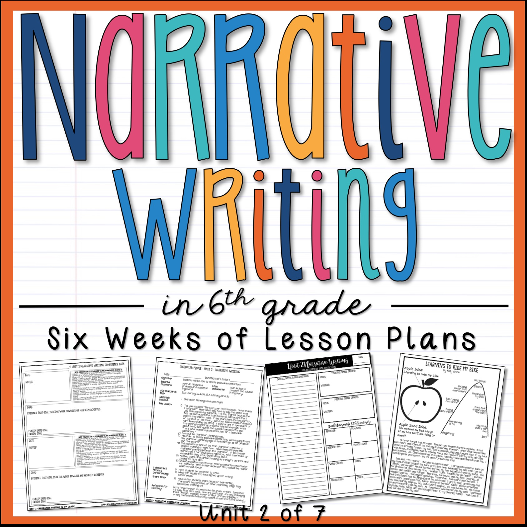 Narrative Writing 6th Grade Writing Unit