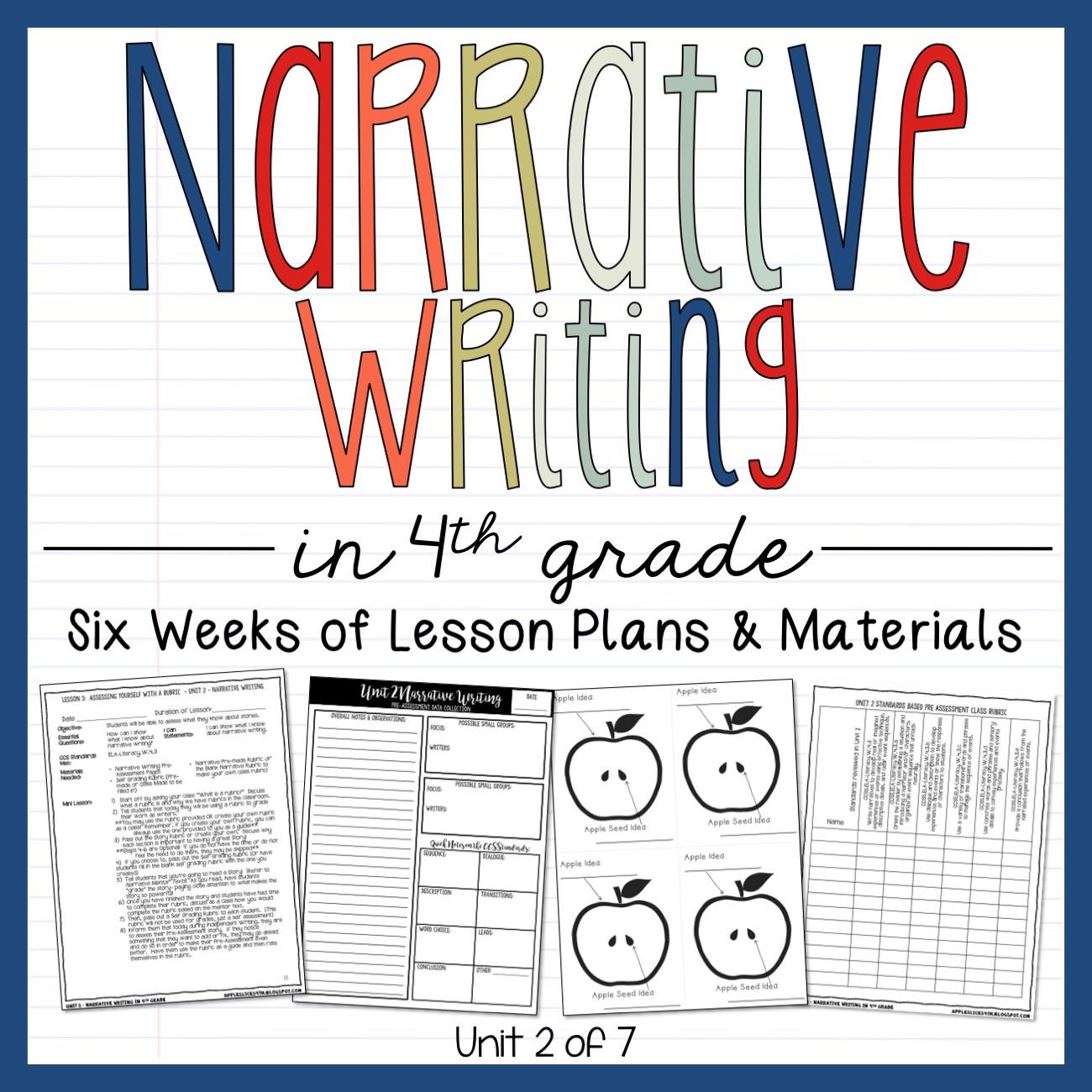 Narrative Writing 4th Grade Writing Unit