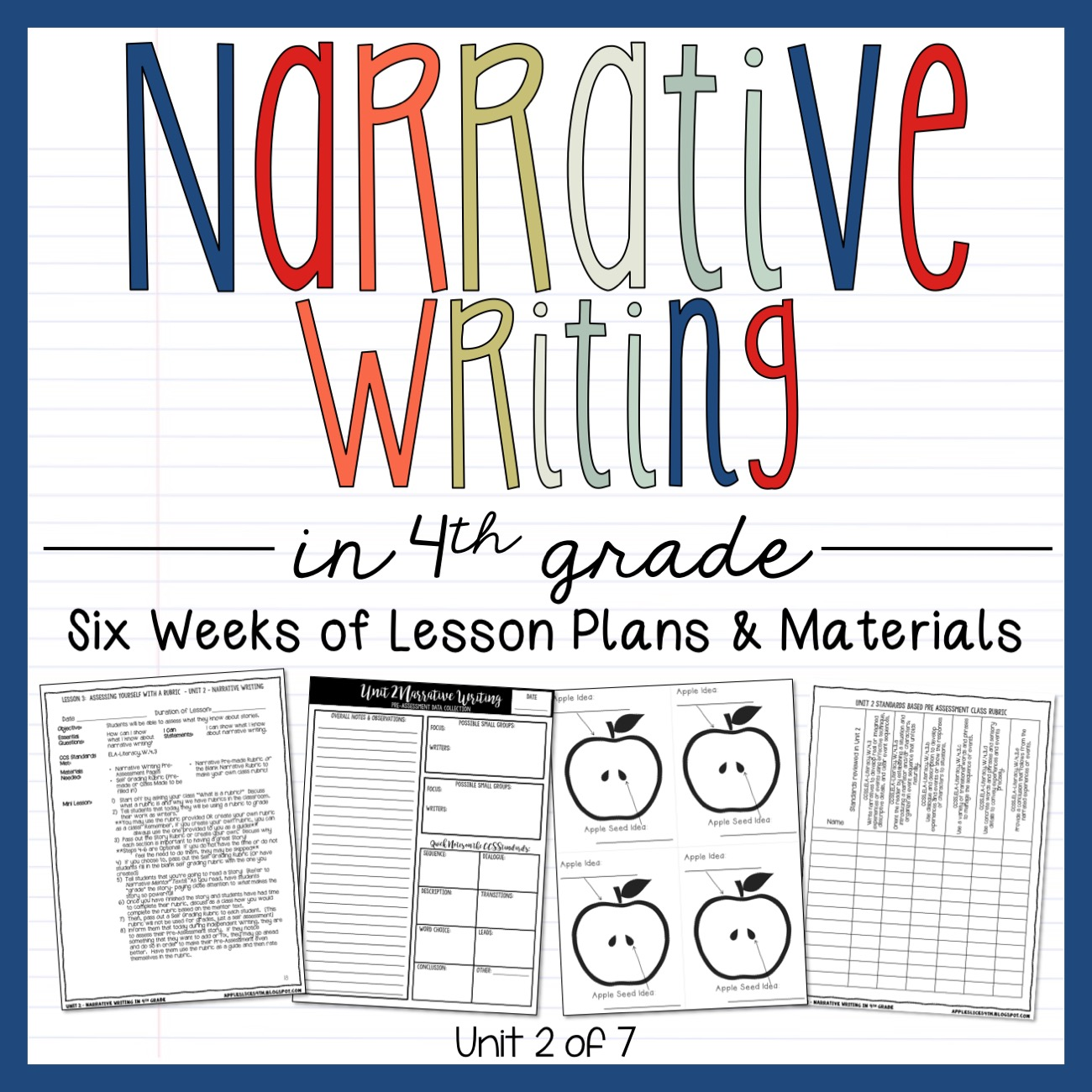 Narrative Writing 4th Grade Writing Unit