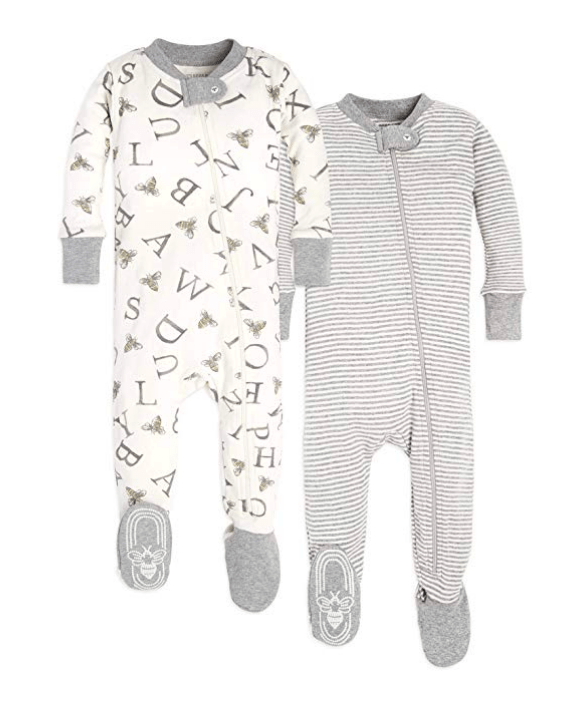 What to pack in your hospital bag for the baby footed onesie with mittens