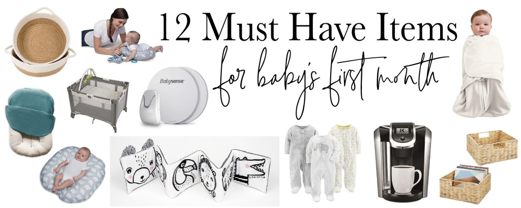 12 Amazon must haves for baby's first month