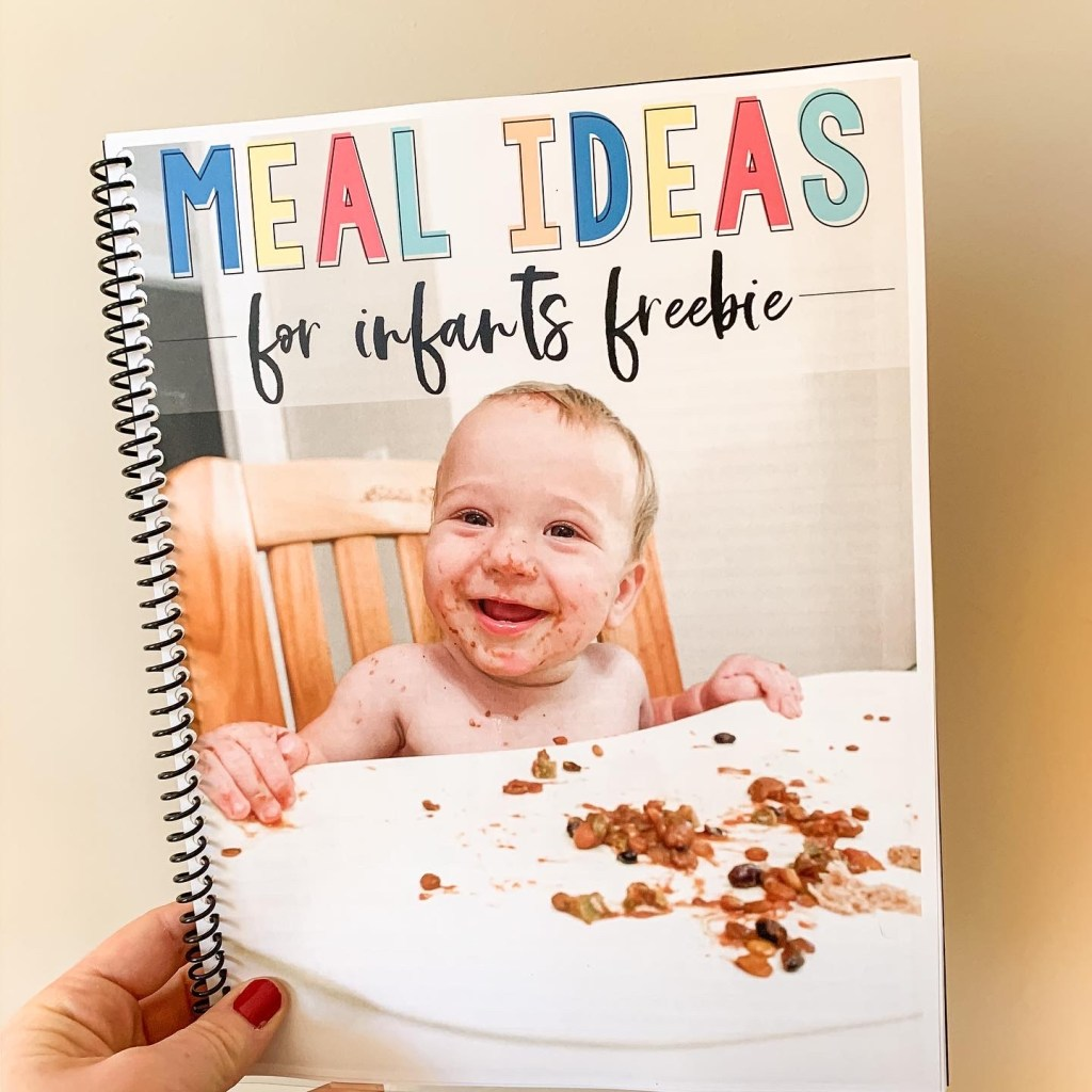 Meal plan ideas for infants and babies