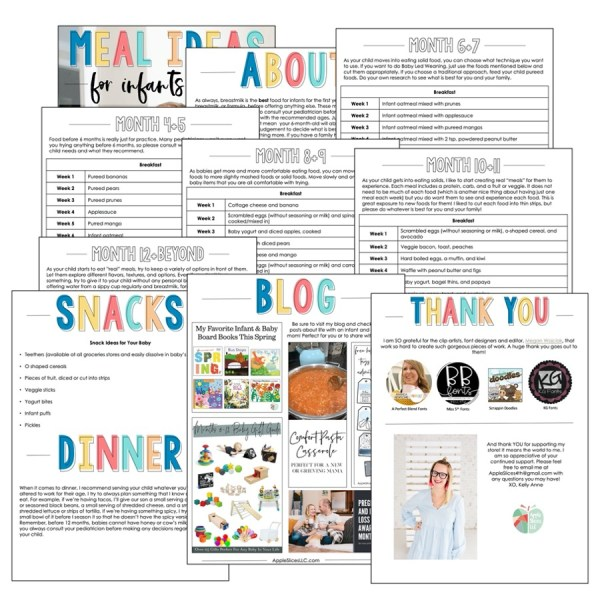 Sample images for the free meal idea download