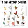 18 farm animals included in this product