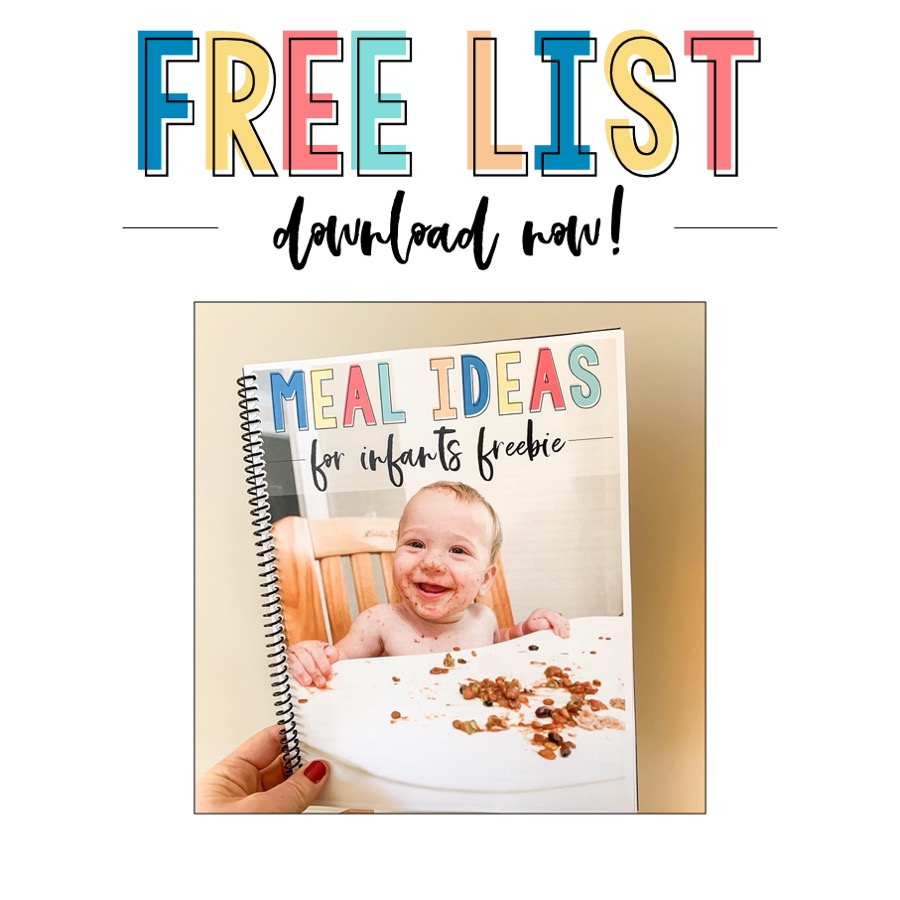 Free list of meal ideas - download it now!