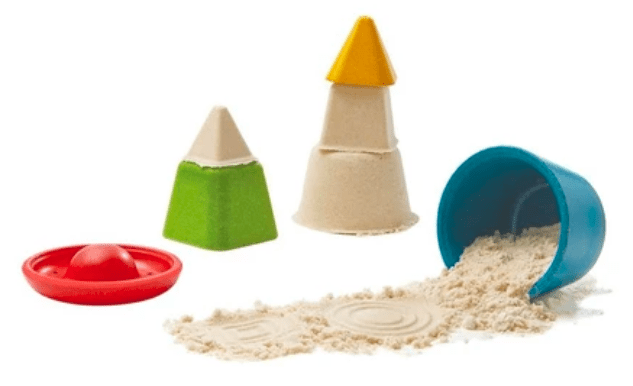 A creative and colorful sand toy for your children to enjoy at the beach