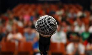 microphone, platform, thought leadership