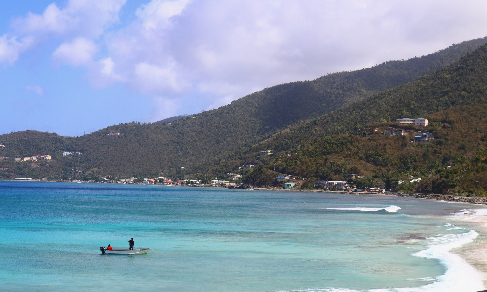 Apple Bay Tortola on a calm morning