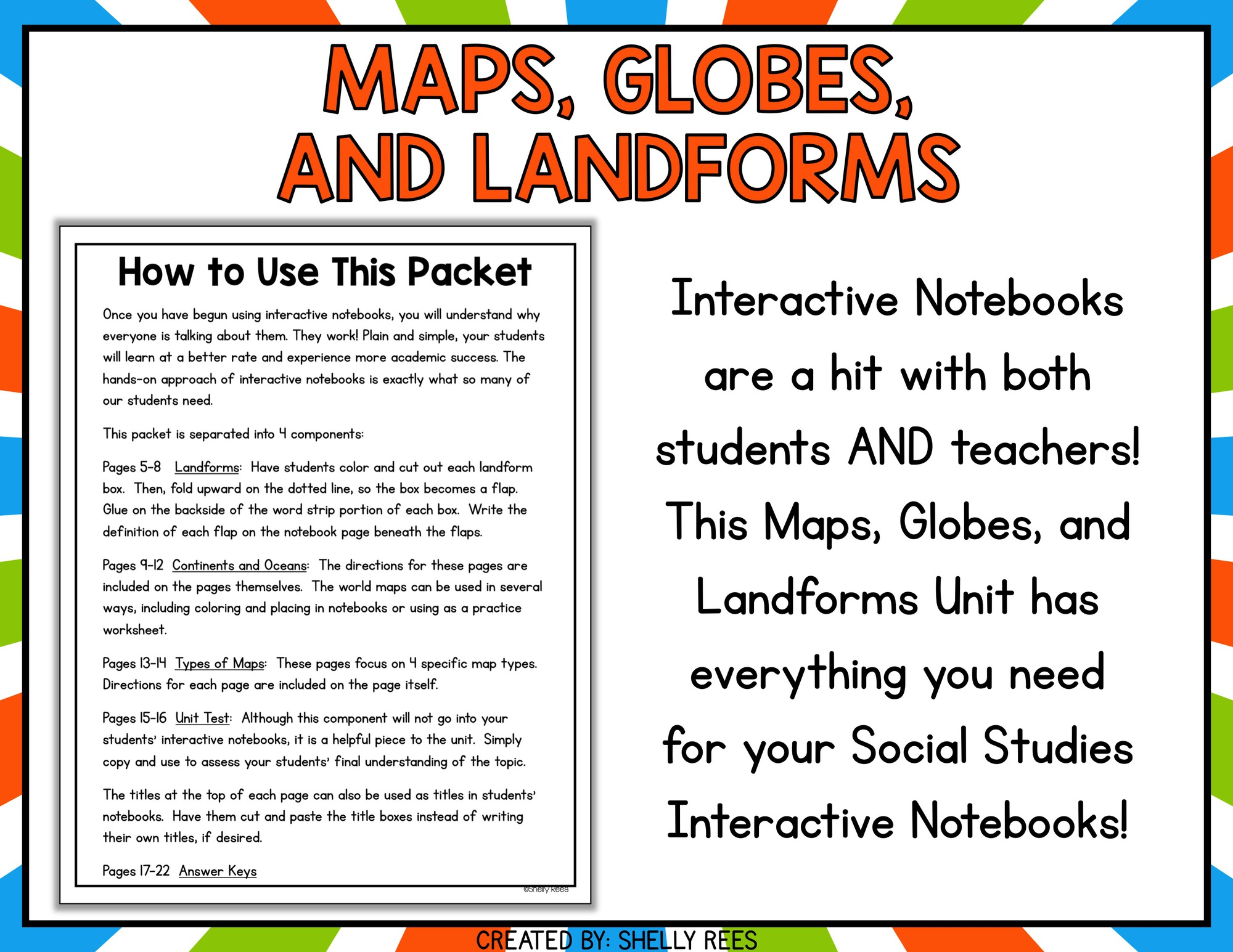 Maps Continents And Landforms