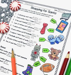 5 Fun Christmas Math Worksheets for Upper Elementary Classrooms -  Appletastic Learning [ 913 x 913 Pixel ]