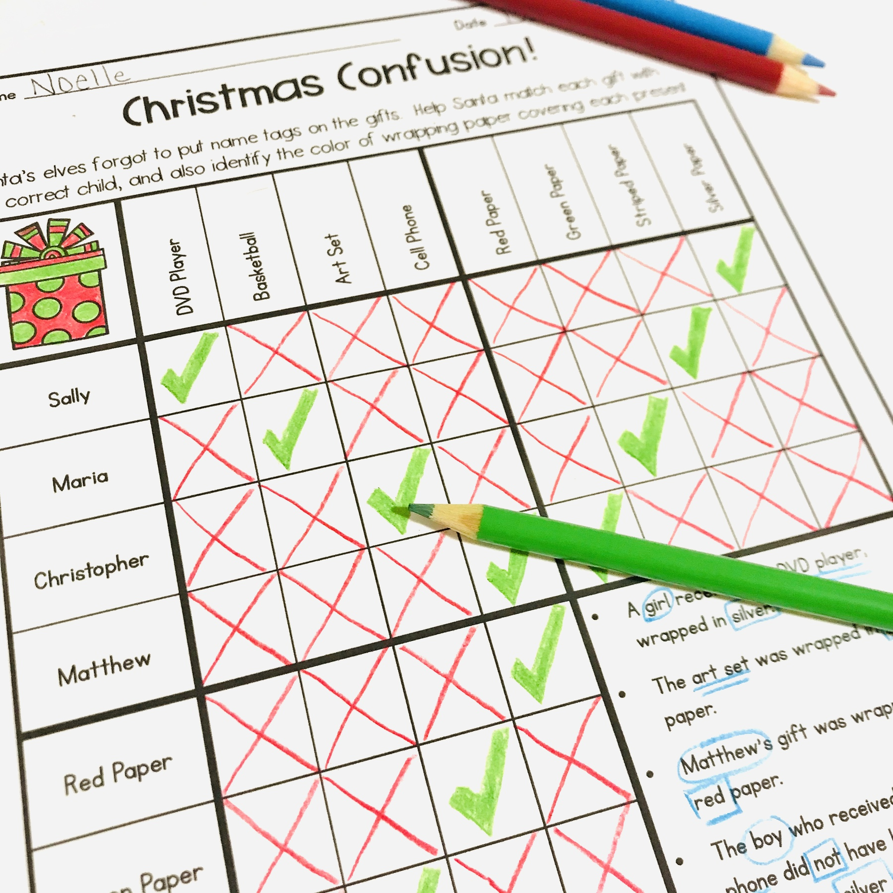 hight resolution of 5 Fun Christmas Math Worksheets for Upper Elementary Classrooms -  Appletastic Learning