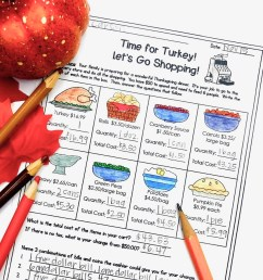 Fun Thanksgiving Printables for Math and Reading - Appletastic Learning [ 913 x 913 Pixel ]