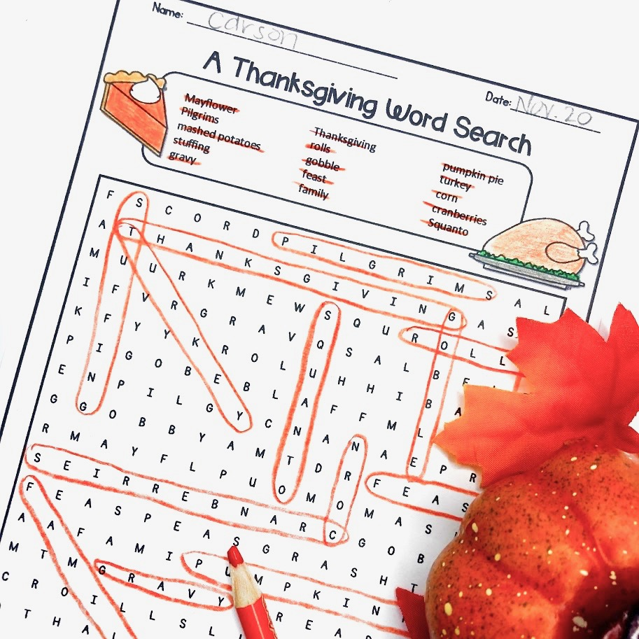 medium resolution of Fun Thanksgiving Printables for Math and Reading - Appletastic Learning