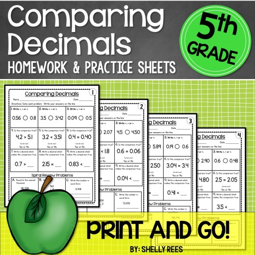 small resolution of 5th Grade Math Worksheets Free and Printable - Appletastic Learning