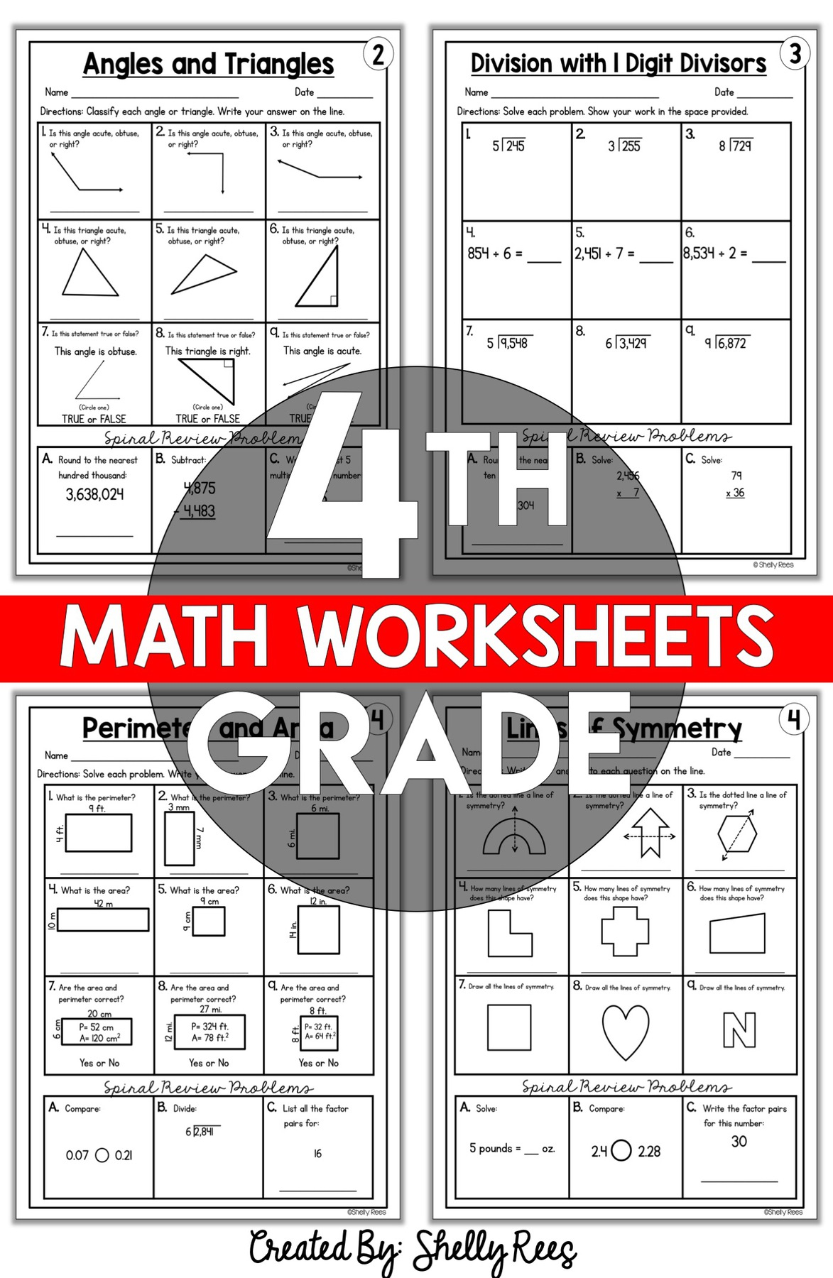 4th Grade Math Worksheets Free And Printable