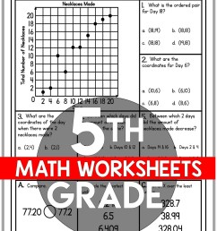 5th Grade Math Worksheets Free and Printable - Appletastic Learning [ 1800 x 1173 Pixel ]