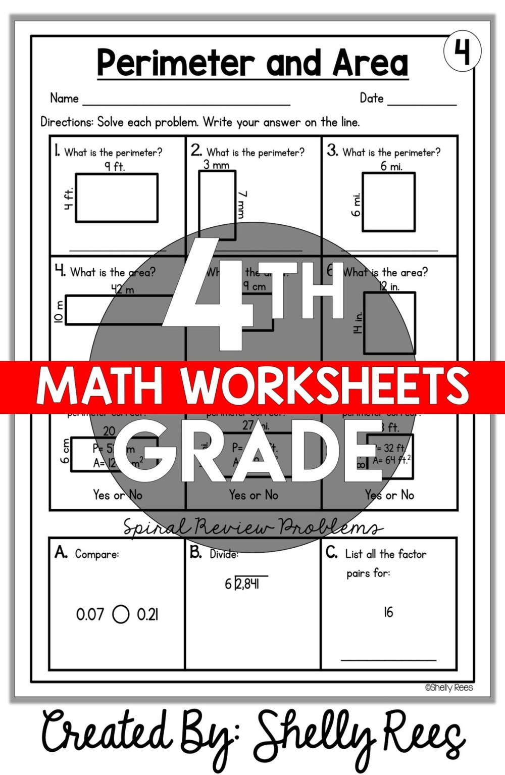 medium resolution of 4th Grade Math Worksheets Free and Printable - Appletastic Learning