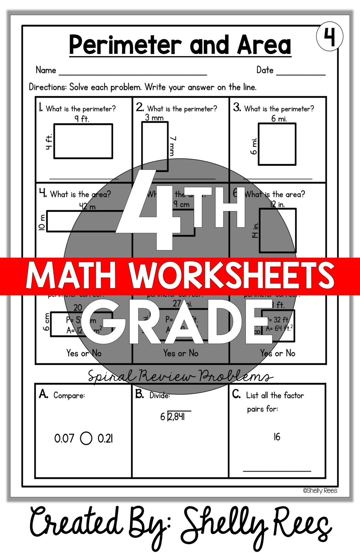 hight resolution of 4th Grade Math Worksheets Free and Printable - Appletastic Learning