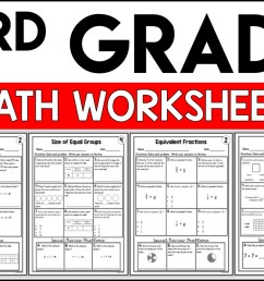 3rd Grade Math Worksheets Free and Printable - Appletastic Learning [ 933 x 1400 Pixel ]