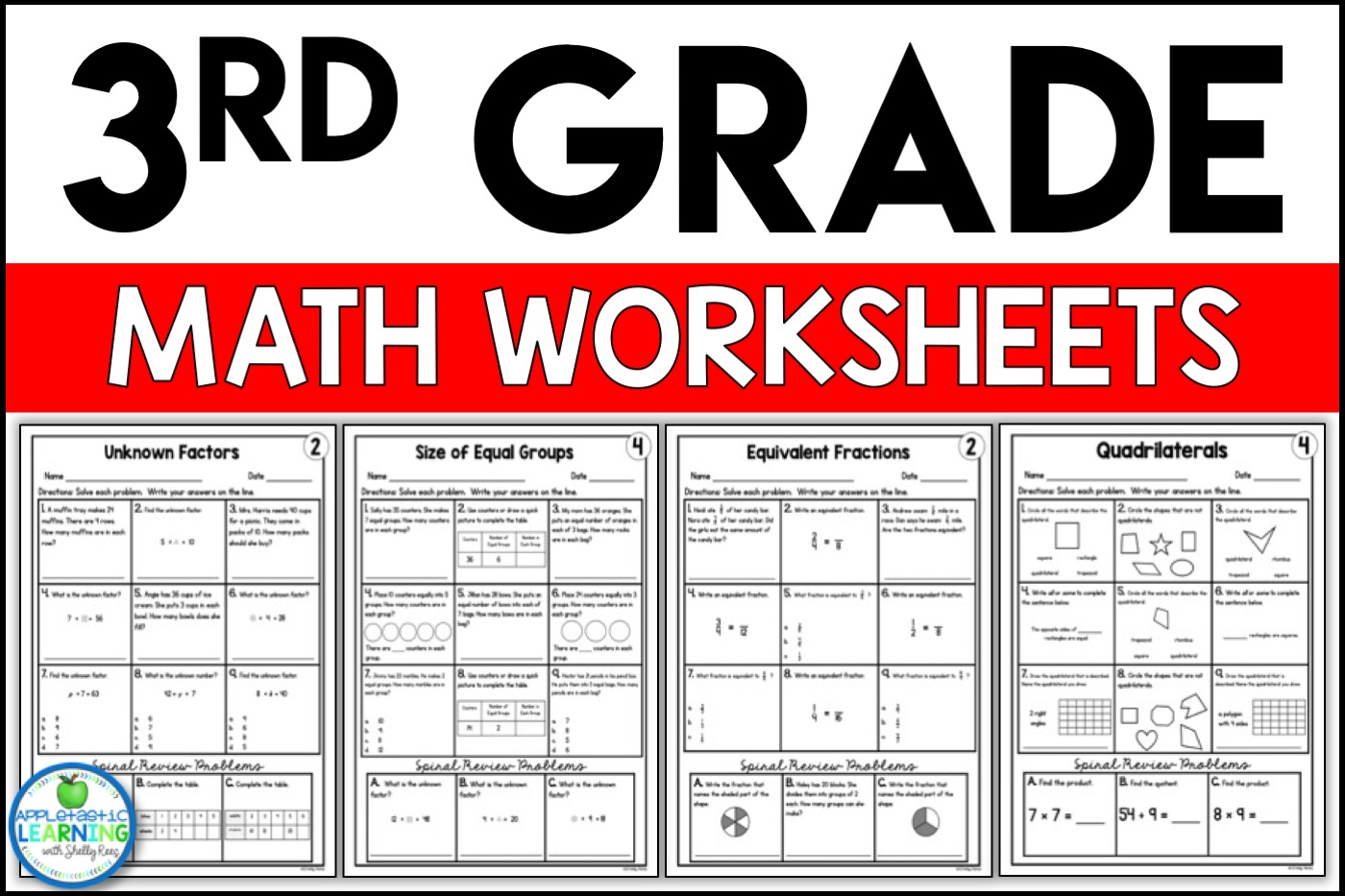 hight resolution of 3rd Grade Math Worksheets Free and Printable - Appletastic Learning